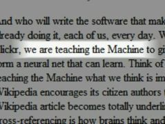 The machine is us